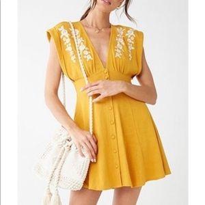 Mustard Yellow and Cream Dress